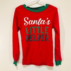 Carter's Santa Graphic Long Sleeve Christmas Top